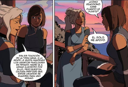 Kya y Korra conversando