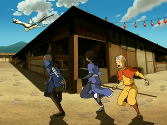 Team Avatar Flees From The Pirates
