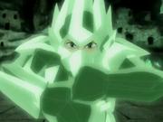 Aang en su armadura de cristal