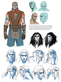 Art of the Animated Series Zaheer sketches