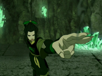 Azula zapped Aang