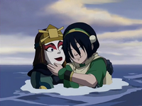 Suki saves Toph