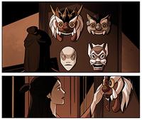Ursa caressing Ikem's mask