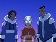 Aang, Katara und Sokka