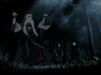 Hama controla a Aang y Sokka