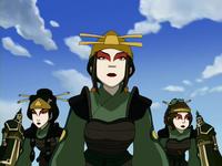 Haciéndose pasar por Guerreras Kyoshi