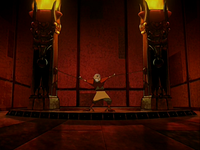 Aang imprisoned