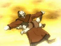 Iroh y un joven Lu Ten