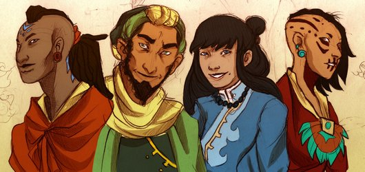 File:The first second third and fourth avatars by avield-d4zd7me.jpg