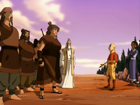 Aang solves the conflict