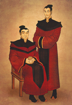 Iroh and Ozai in their youth