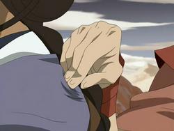 Ty Lee blocking Katara's chi