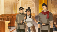 Korra opposing the council