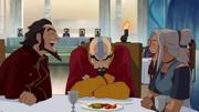 Bumi y Kya molestando a Tenzin