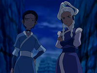 Katara and Yue unimpressed