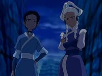 Katara and Yue unimpressed