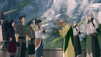 Aiwei welcomes Korra and her party