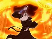 Avatar Roku haciendo Fuego Control
