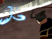 Zuko bloqueando el fuego de Azula