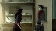 Asami confrontando a Mako