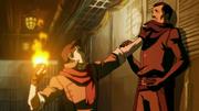 Mako amenazando a un Igualitario