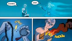 Aang saying bye to Roku