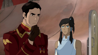 Korra fragt Iroh, ob er ihr helfen könnte