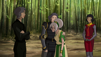 Toph and Lin reconciling