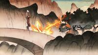 Wan ataca con Fuego Control a Aye-aye