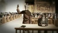 El abogado protestando