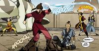 Zuko, Katara, and Aang attack Azula