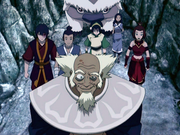 Bumi guiando al Equipo Avatar