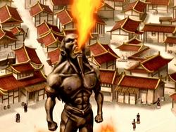 Fire Fountain statue