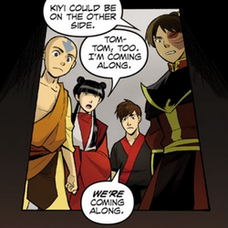 File:Aang, Mai, Kei Lo, and Zuko decide to explore the tunnel.png
