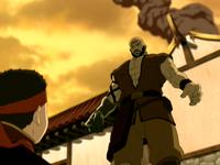 Hombre Combustión y Aang