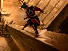Azula evades Team Avatar