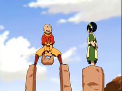 Toph leert Aang aardesturen