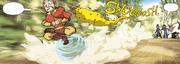 Ein Schwarm Skorpionbienen verfolgt Aang