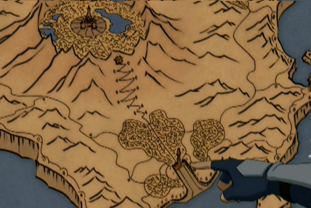 Image Fire Nation Capital Mappng Avatar Wiki FANDOM Powered - Avatar the last airbender us map