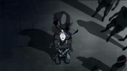 Amon verwijderd Lin's krachten