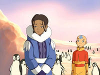 Sad Katara and Aang