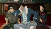 Bolin, Varrick, and Asami