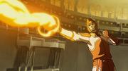 Mako haciendo Fuego Control en un partido de pro-Control