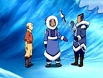 Sokka i Katara troben l'Aang