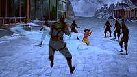 Jinora vuela al Teniente