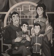 Mako und Bolin Familienfoto