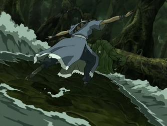 File:Katara fights Swamp Monster.png