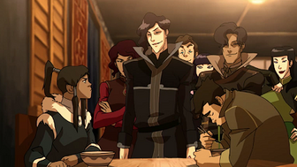 The Wolfbats confronting Korra