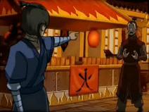 Kuruk challenges a random citizen