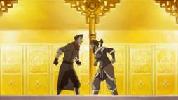 Mako und Korra streiten